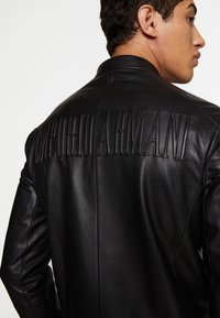 Emporio Armani - CABAN - Leather jacket - black - 5