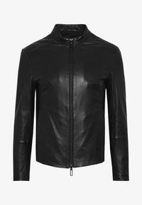 Emporio Armani - CABAN - Leather jacket - black - 4