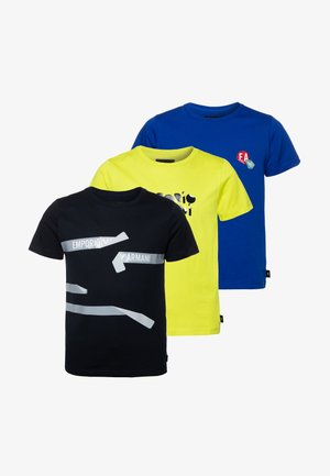 3 PACK  - T-shirt con stampa - giallo