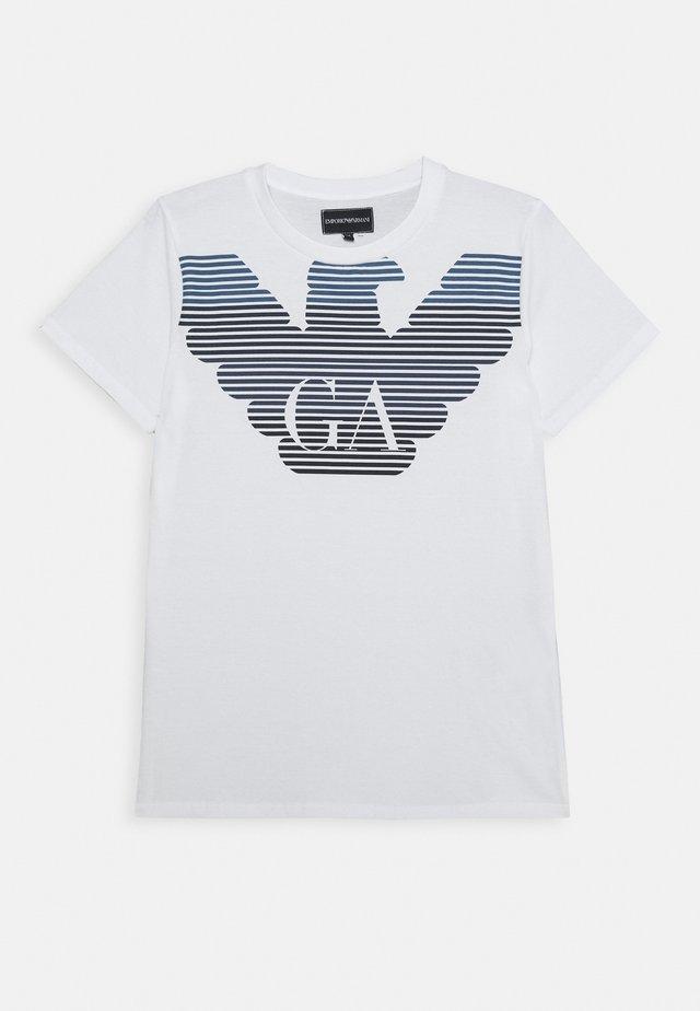 Print T-shirt - bianco