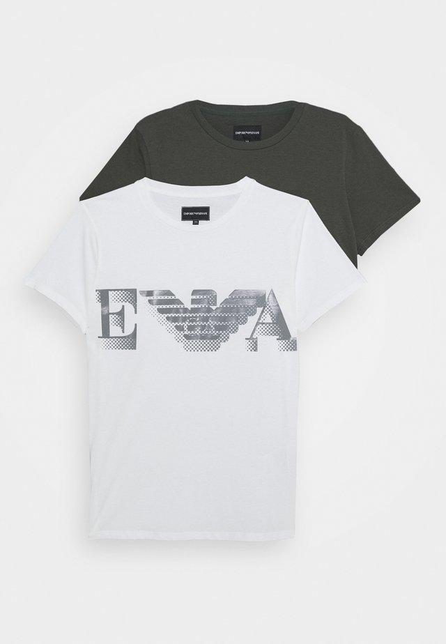 2 PACK - Camiseta estampada - bianco