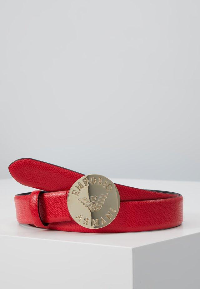 MINI DOLLARO CIRCLE BUCKLE - Bælter - papavero