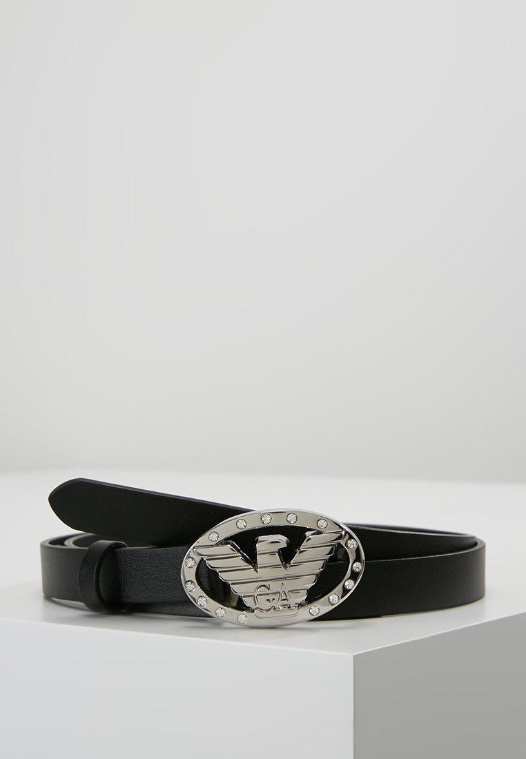 Emporio Armani - CINTURA FIANCO TONGUE BELT - Belt - nero/crystal