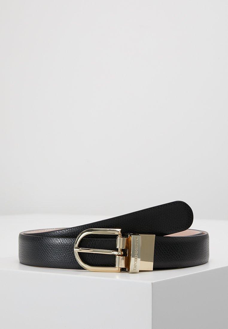 Emporio Armani - REVERSIBLE TONGUE BELT - Belt - nero/carne