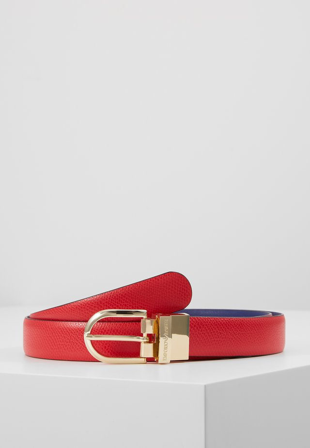 BELTS - Belt - papavero/blu