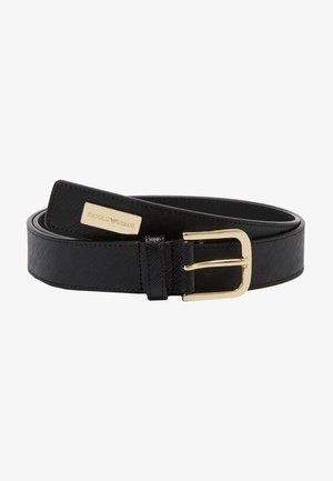 TONGUE BELT SHINY SAFFIANO - Cinturón - nero