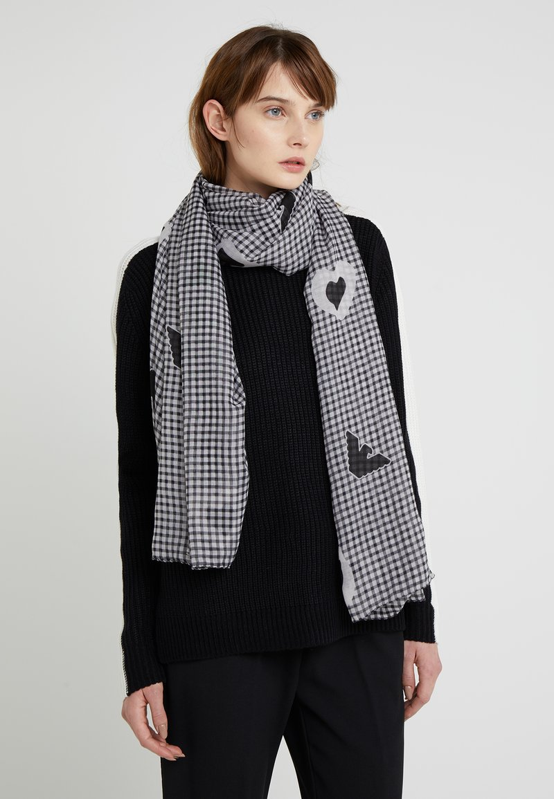 Emporio Armani - FOULARD - Sjal / Tørklæder - white/black