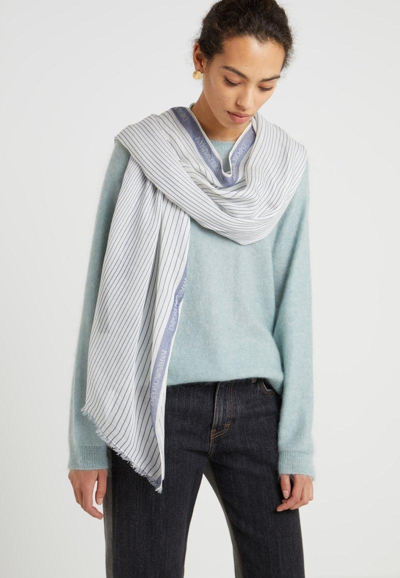 Emporio Armani - FOULARD - Schal - white/blue