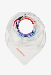 Emporio Armani - FOULARD GRAPHICS BLOCK - Foulard - white/multi - 1
