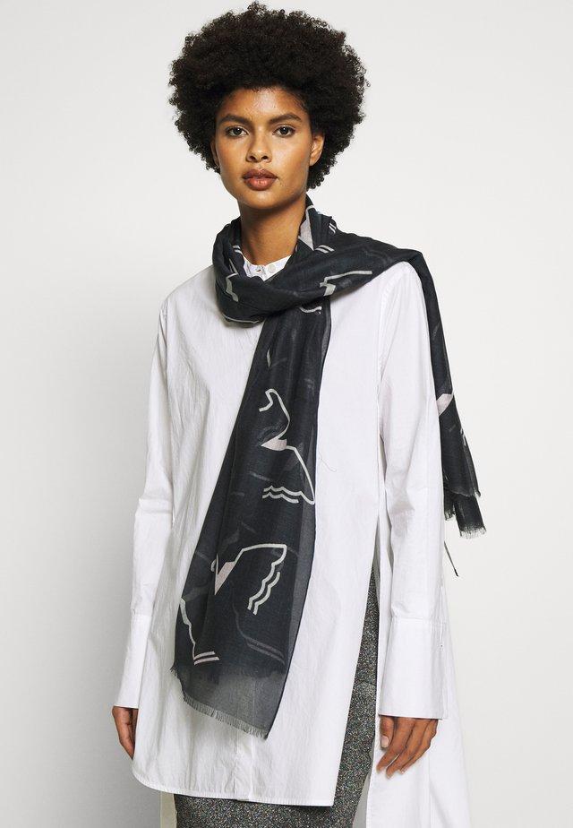 STOLE MONOCHROME EAGLE PRINT - Scarf - black