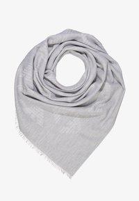 Emporio Armani - FOULARD TILED EAGLE PRINT - Šátek - pearl grey - 0
