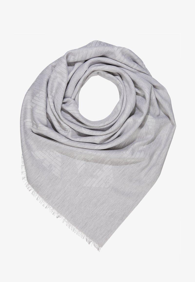 Emporio Armani - FOULARD TILED EAGLE PRINT - Šátek - pearl grey