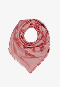 Emporio Armani - FOULARD TILED EAGLE PRINT - Foulard - graphic red - 0