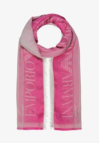 Emporio Armani - STOLE LIGHTWEIGHT FADED LOGO - Scarf - pop pink - 0