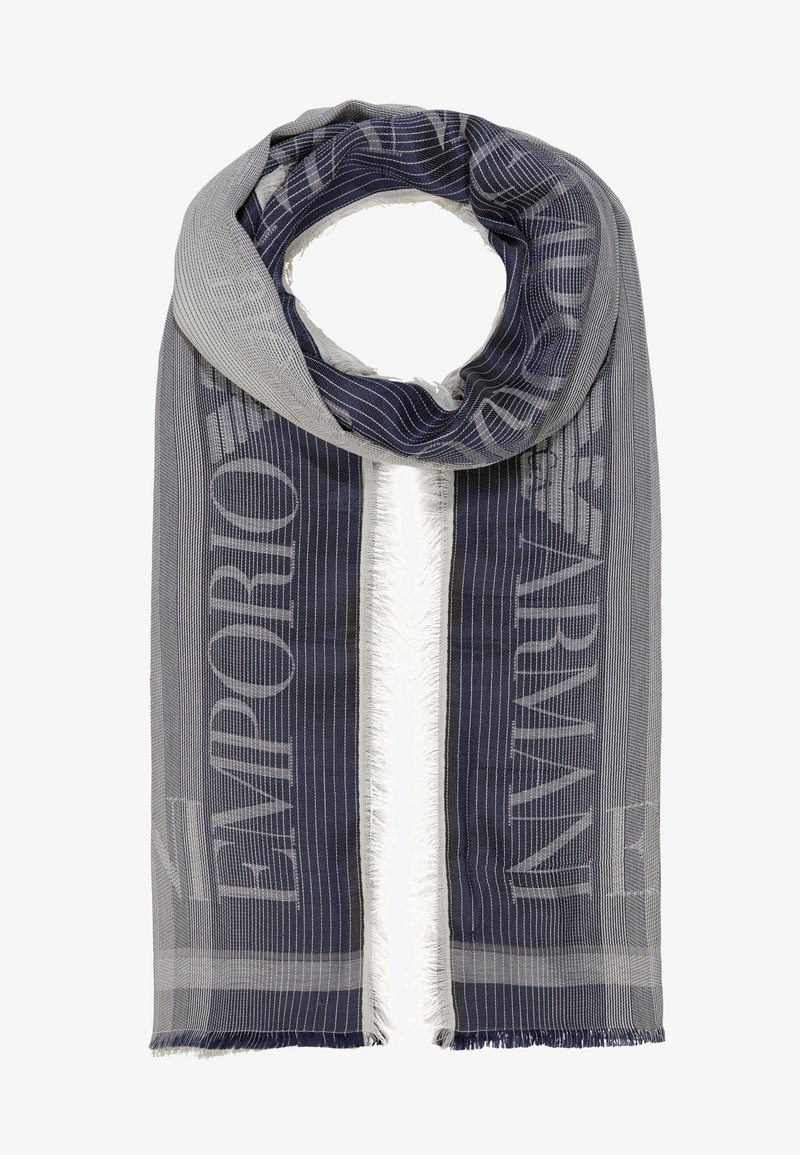 Emporio Armani - STOLE LIGHTWEIGHT FADED LOGO - Scarf - navy blue