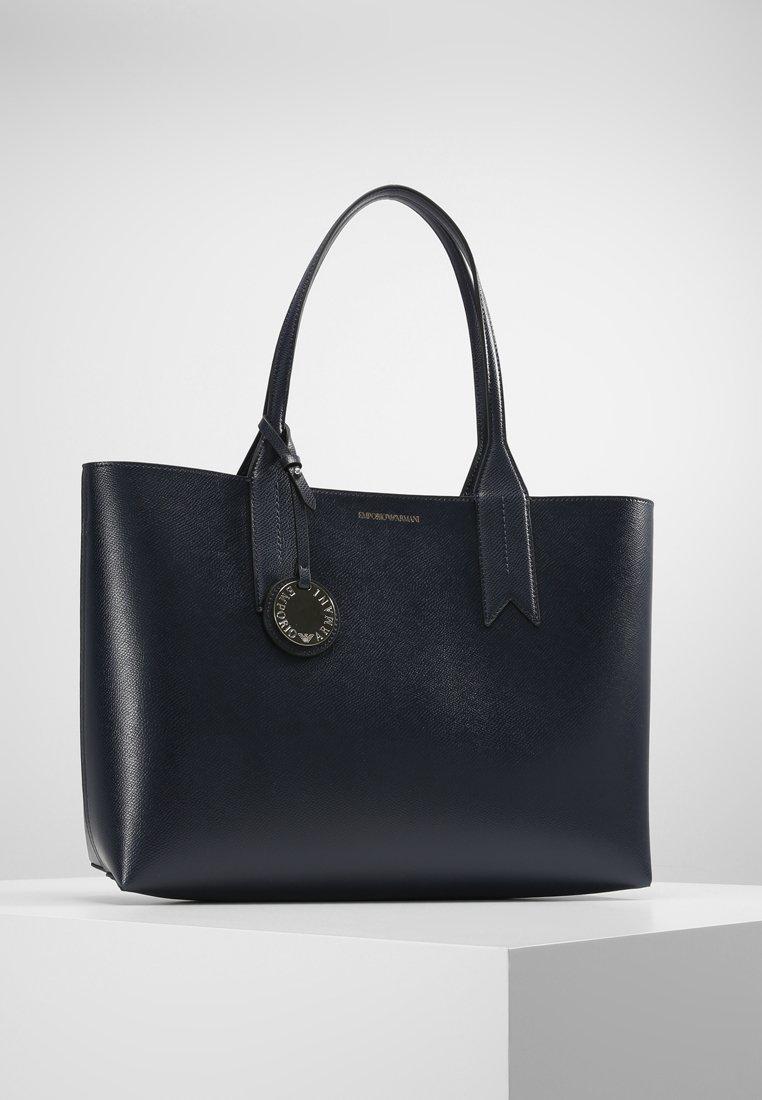 Emporio Armani - SHOPPING BAG BIG - Handbag - dark blue