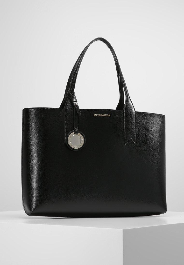 Emporio Armani - SHOPPING BAG BIG - Handbag - nero/rosso
