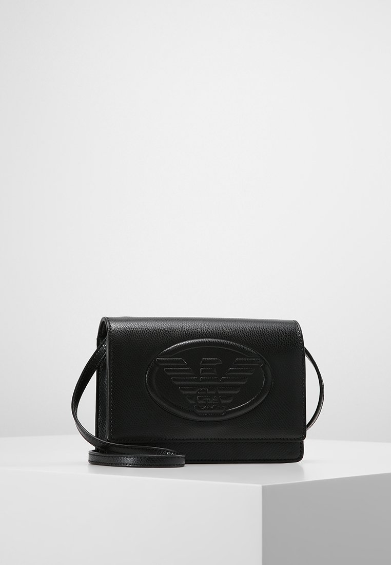 Emporio Armani - BORSA TRACOLLA LOGO  - Across body bag - nero