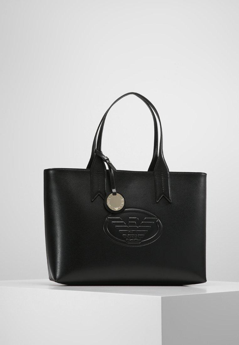 Emporio Armani - LOGO DEBOSSED ZIP - Handbag - nero
