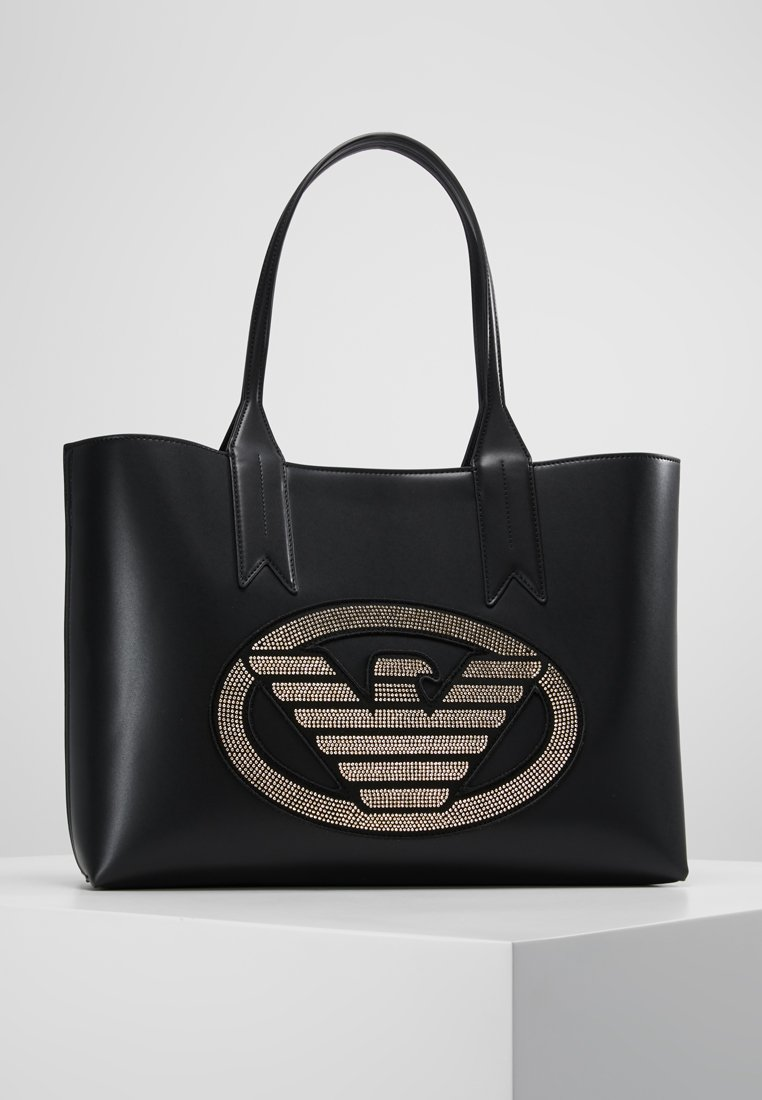 Emporio Armani - PATCH - Shopping Bag - nero/oro