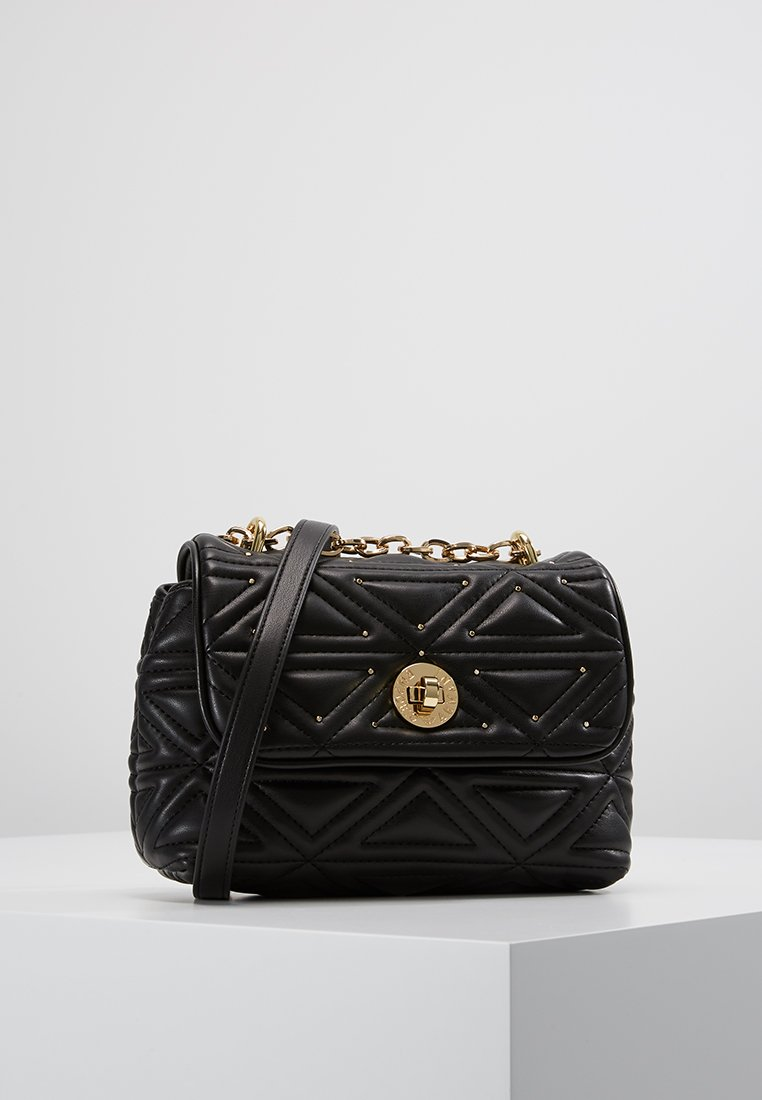 Emporio Armani - BORCHIE SHOULDER BAG - Taška spříčným popruhem - nero black