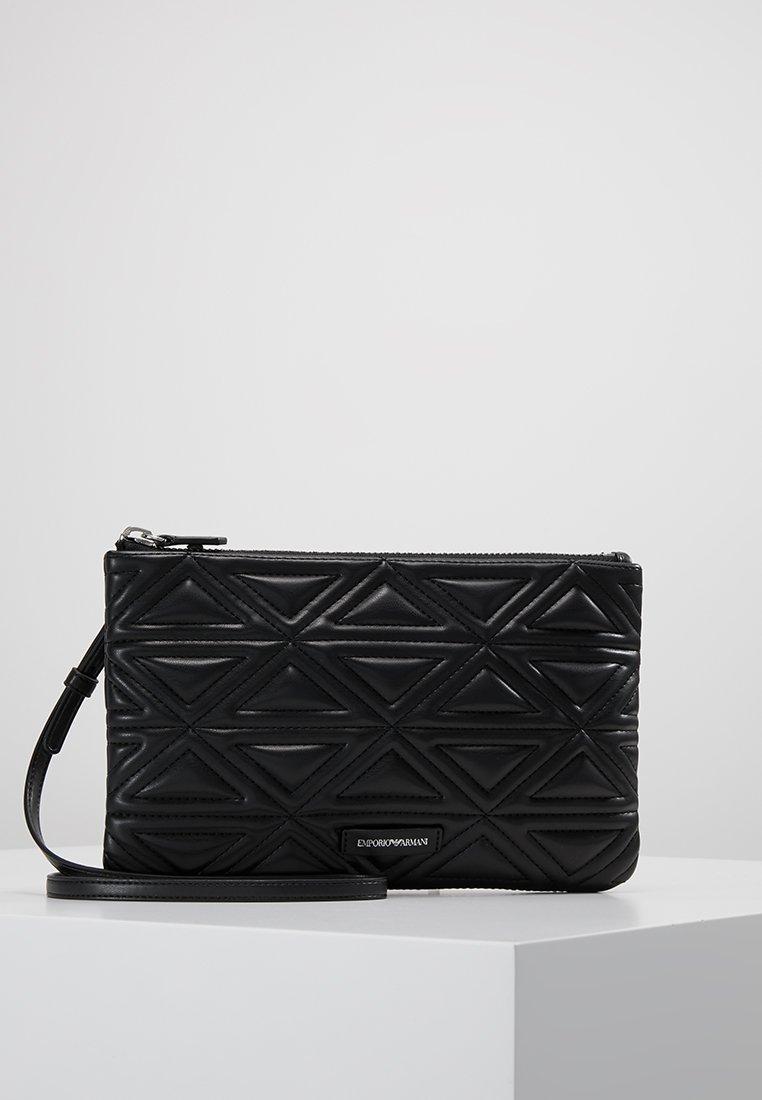 Emporio Armani - BUSTA TRACOLLA  WRISTLET CASE - Pochette - nero black