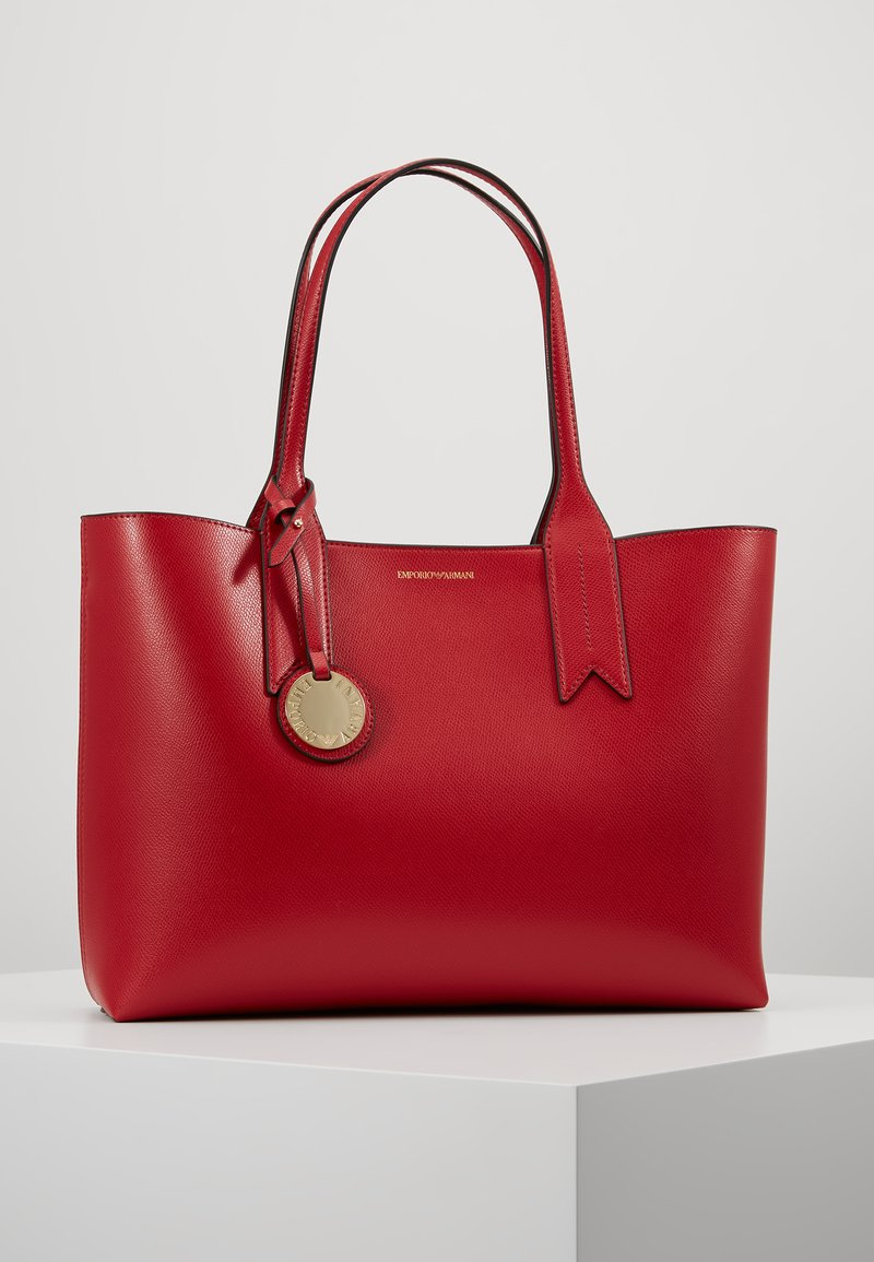 Emporio Armani - FRIDA SHOPPING BAG  - Håndtasker - rubino