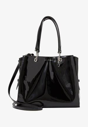 ANNIE PATENT TOTE BAG - Handbag - nero