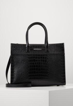 VERONICA TOP HANDLE TOTE CROCO - Handbag - black
