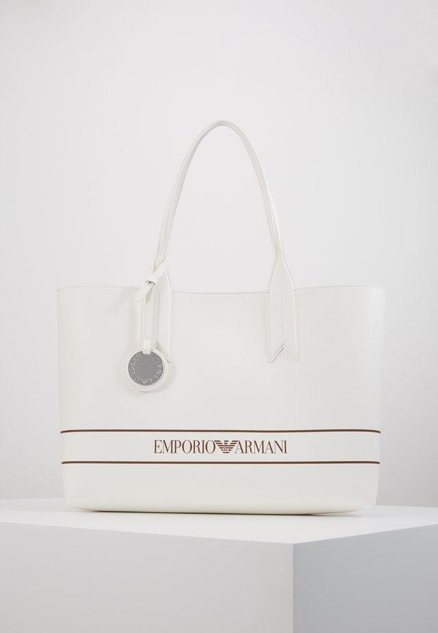 FRIDA STRIPE LOGO SHOPPER - Tote bag - bianco