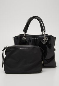 Emporio Armani - ANNIE PATENT SATCH SET - Handbag - nero - 3