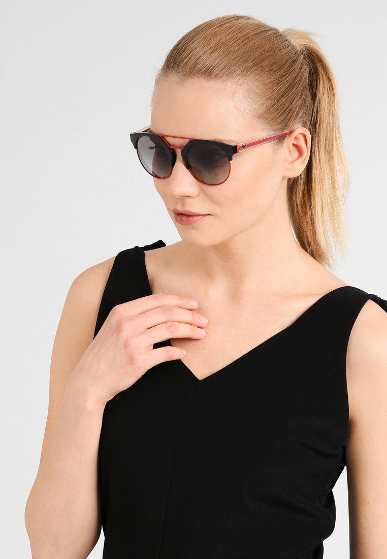 Emporio Armani - Sunglasses - black/red