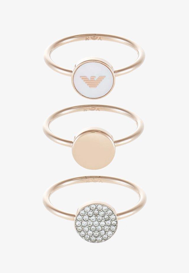 3 PACK - Ringe - rose gold-coloured