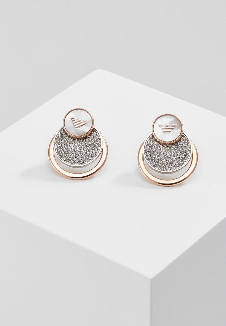 Emporio Armani - Náušnice - silver-coloured/ rose gold-coloured