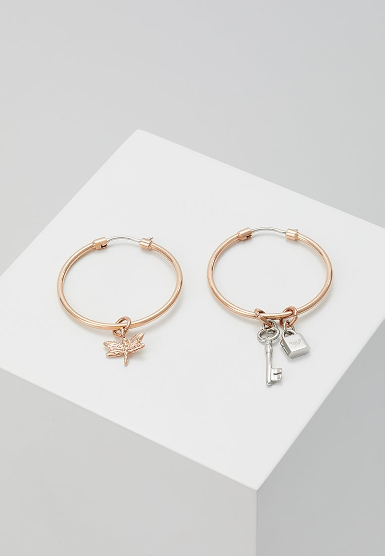 Emporio Armani - Boucles d'oreilles - roségold-coloured/silver-coloured