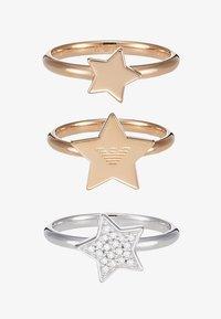 Emporio Armani - 3 PACK - Prsten - roségold-coloured/silver-coloured - 3