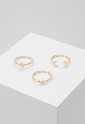 3 PACK - Pierścionek - rose gold-coloured