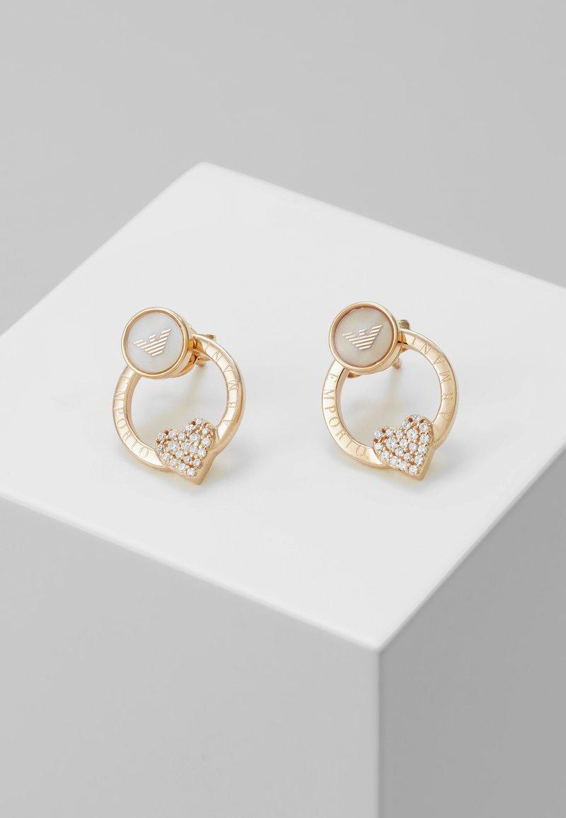 Emporio Armani - SENTIMENTAL - Boucles d'oreilles - rose gold-coloured