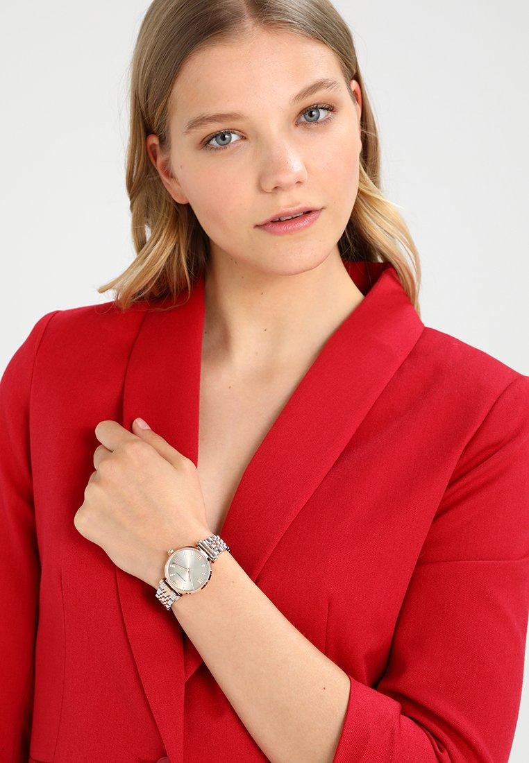 Emporio Armani - Montre - silver-coloured/rosegold-coloured
