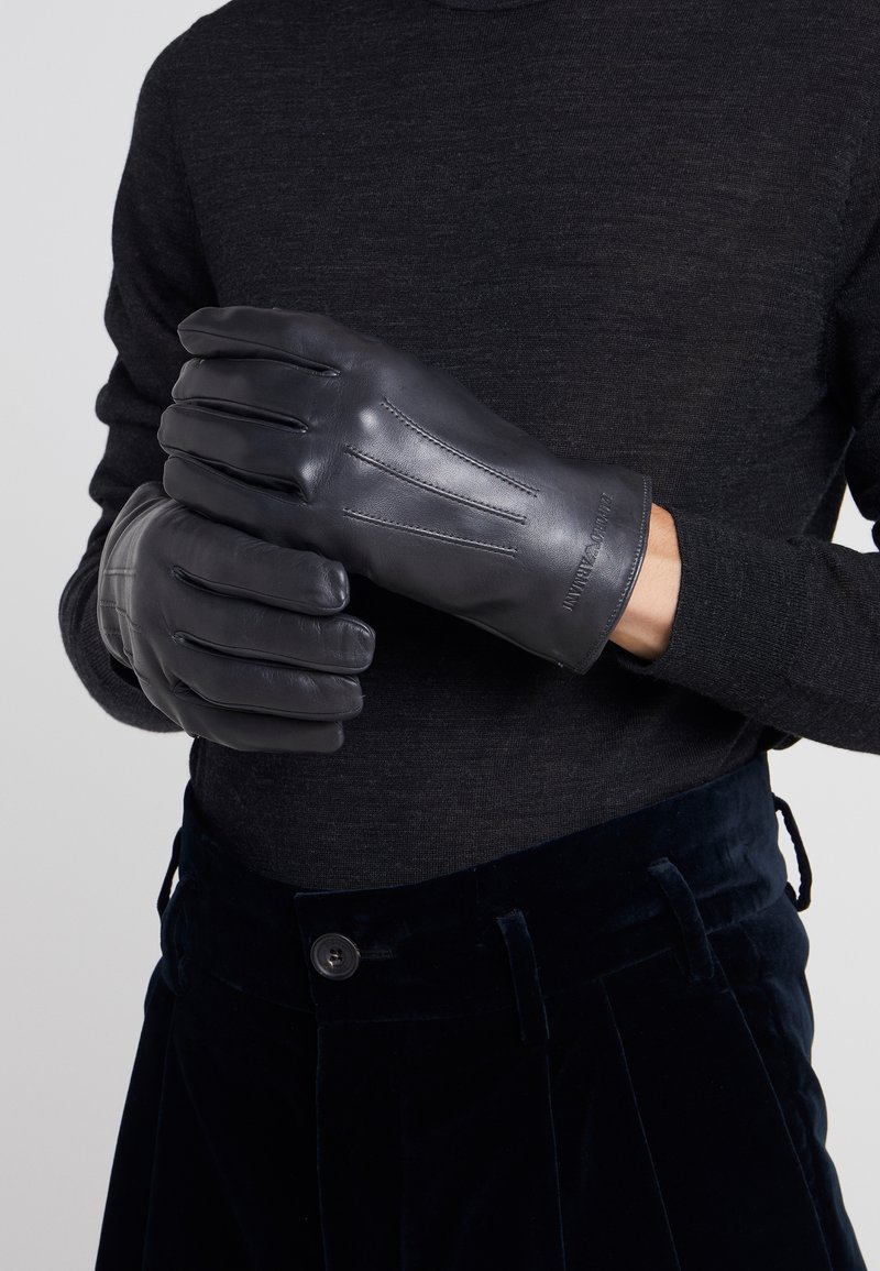 Emporio Armani - MAN GLOVES - Rękawiczki pięciopalcowe - grigio