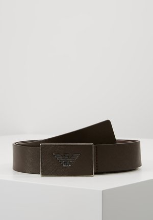 CINTURA  PLATE BELT - Skärp - dark tan