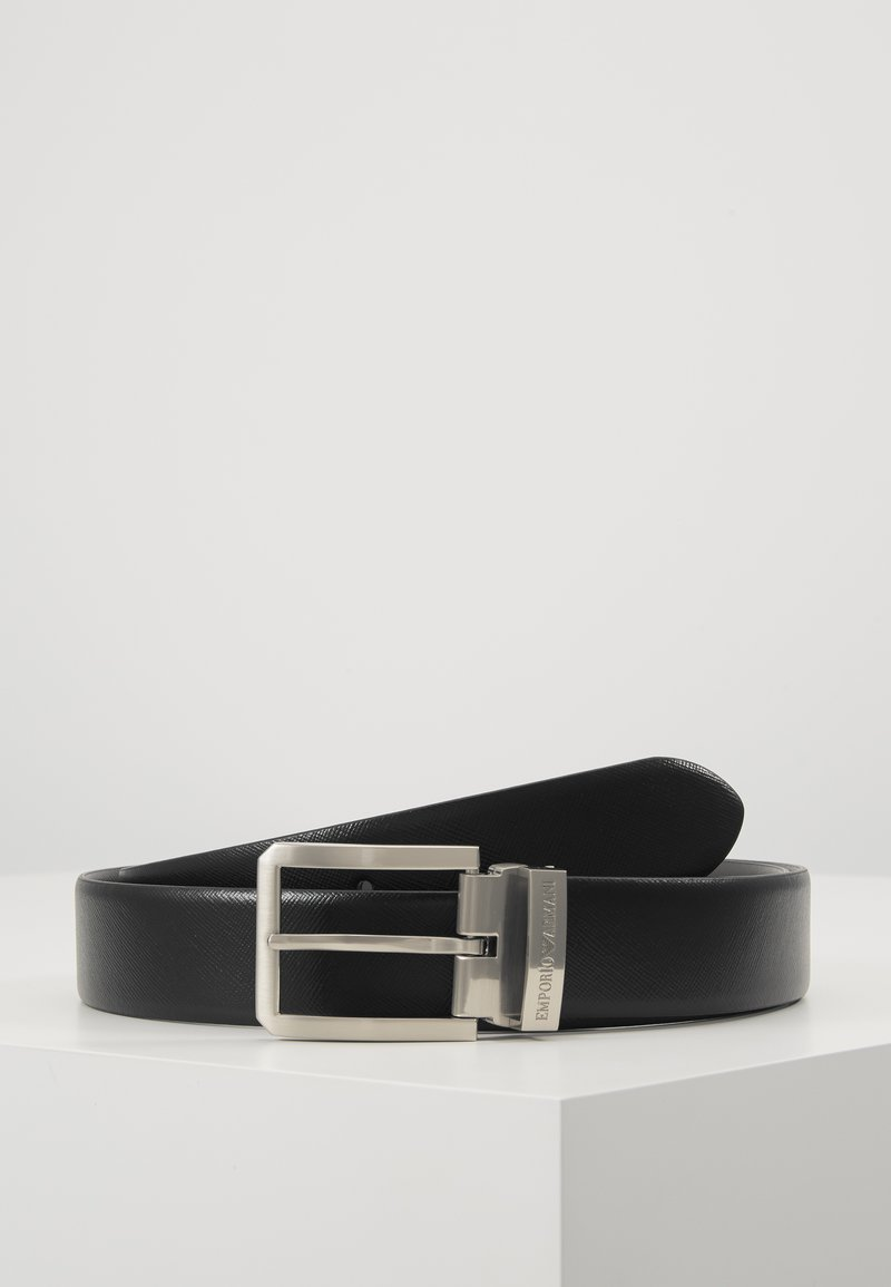 Emporio Armani - Belt business - nero/grigio