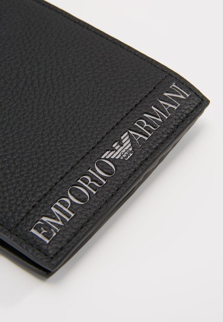 Emporio Armani - FOLD WALLET - Punge - nero