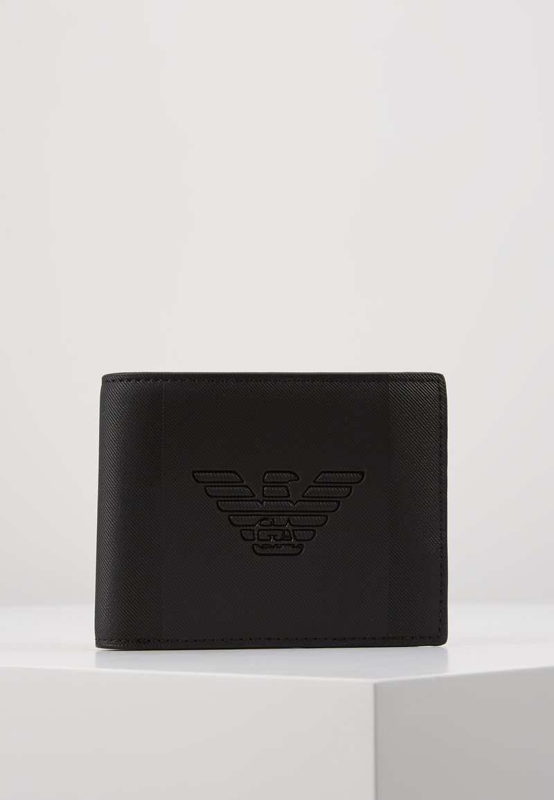 Emporio Armani - BILFOLD WALLET WITH COIN PURSE - Lompakko - black