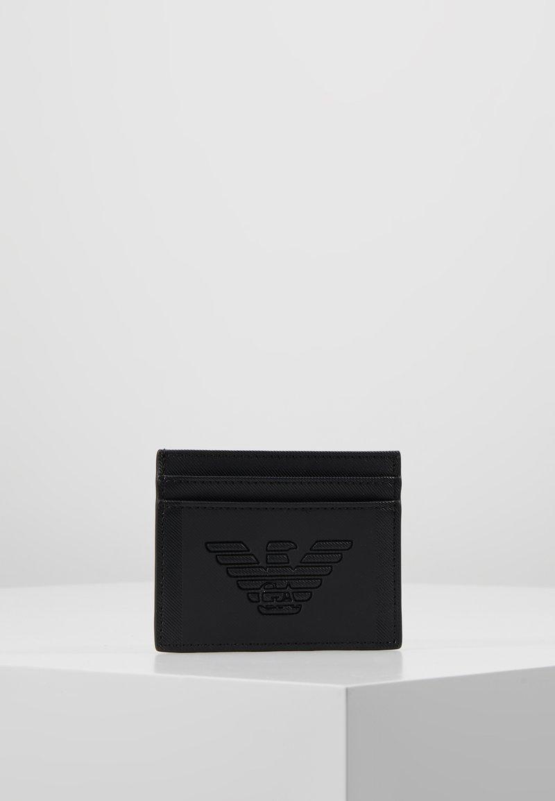 Emporio Armani - CREDIT CARD HOLDER - Visitkortsfodral - black