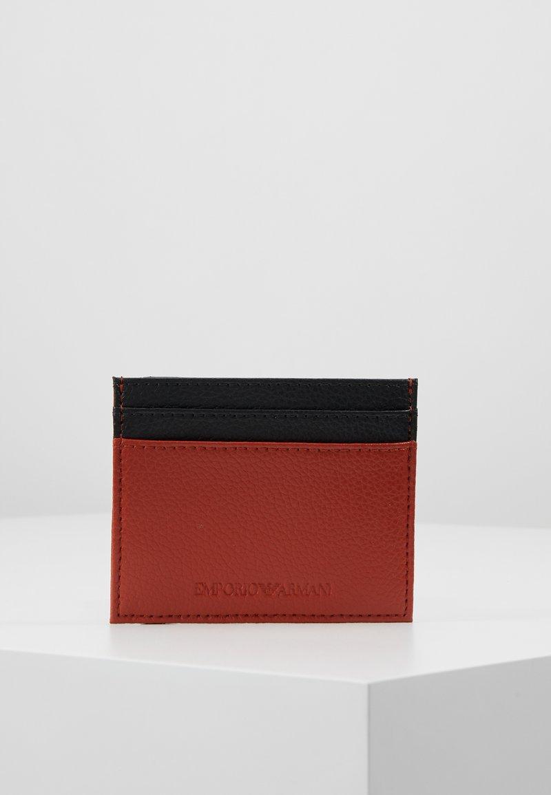 Emporio Armani - CREDIT CARD HOLDER - Käyntikorttikotelo - orange/black