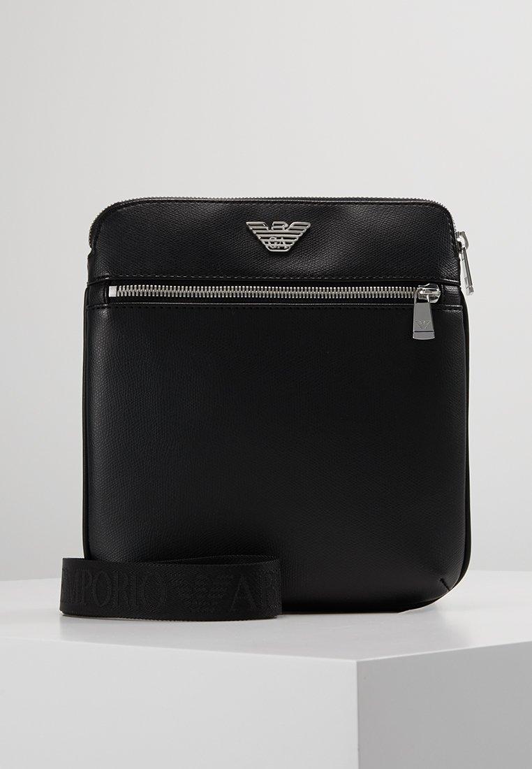 Emporio Armani - BORSA MESSENGER - Across body bag - black/black