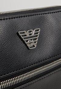 Emporio Armani - BORSA MESSENGER - Across body bag - black/black - 4