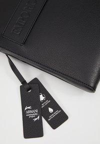 Emporio Armani - FLAT MESSENGER BAG - Across body bag - black - 5