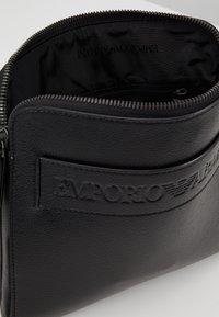 Emporio Armani - FLAT MESSENGER BAG - Across body bag - black - 4